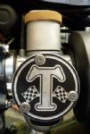 Bonneville T120, Thruxton 1200 TPS T Grand Prix Flag Cover Kit (2 Covers) Throttle Position Sensor Covers.